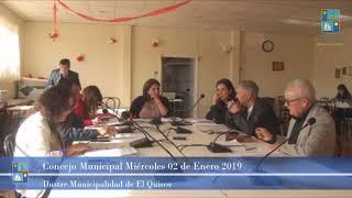 Concejo Municipal Miércoles 02 de Enero 2019 - El Quisco