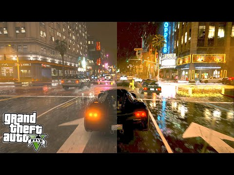 GTA 5 Graphics Comparison : Vanilla vs 4K Real Life (GTA 5 Mods)