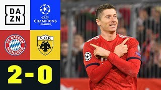 Doppelpacker Robert Lewandowski macht Unterschied: Bayern – AEK 2:0 | Champions League | Highlights