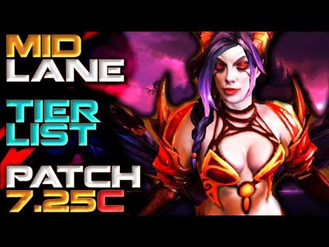 Mid Lane Hero Tier List   Patch 7.25c Dota 2