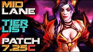Mid Lane Hero Tier List | Patch 7.25c Dota 2