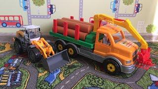 Детские мультфильмы для мальчиков|Лесовоз, Трактор и Грузовик|Детские игрушки