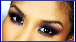 blue smokey eye makeup tutorial bh cosmetics itsjudytime palette