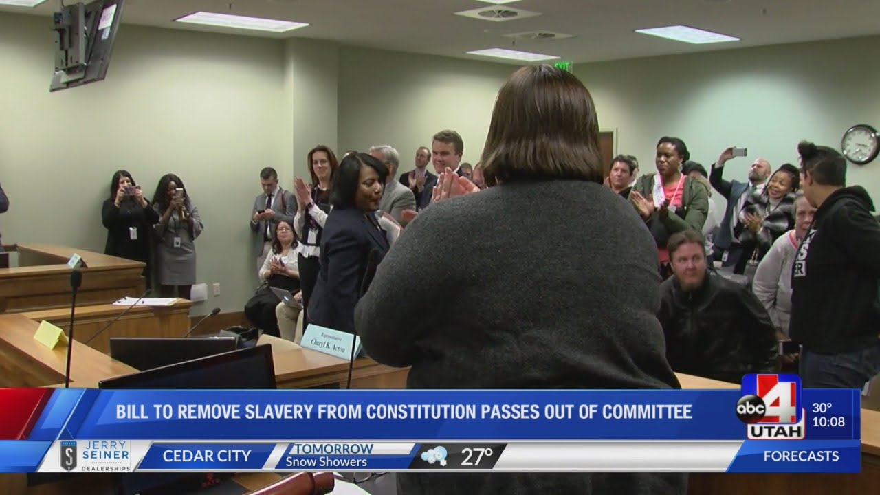 Bill to remove slavery from Utah's constitution passes out of committee