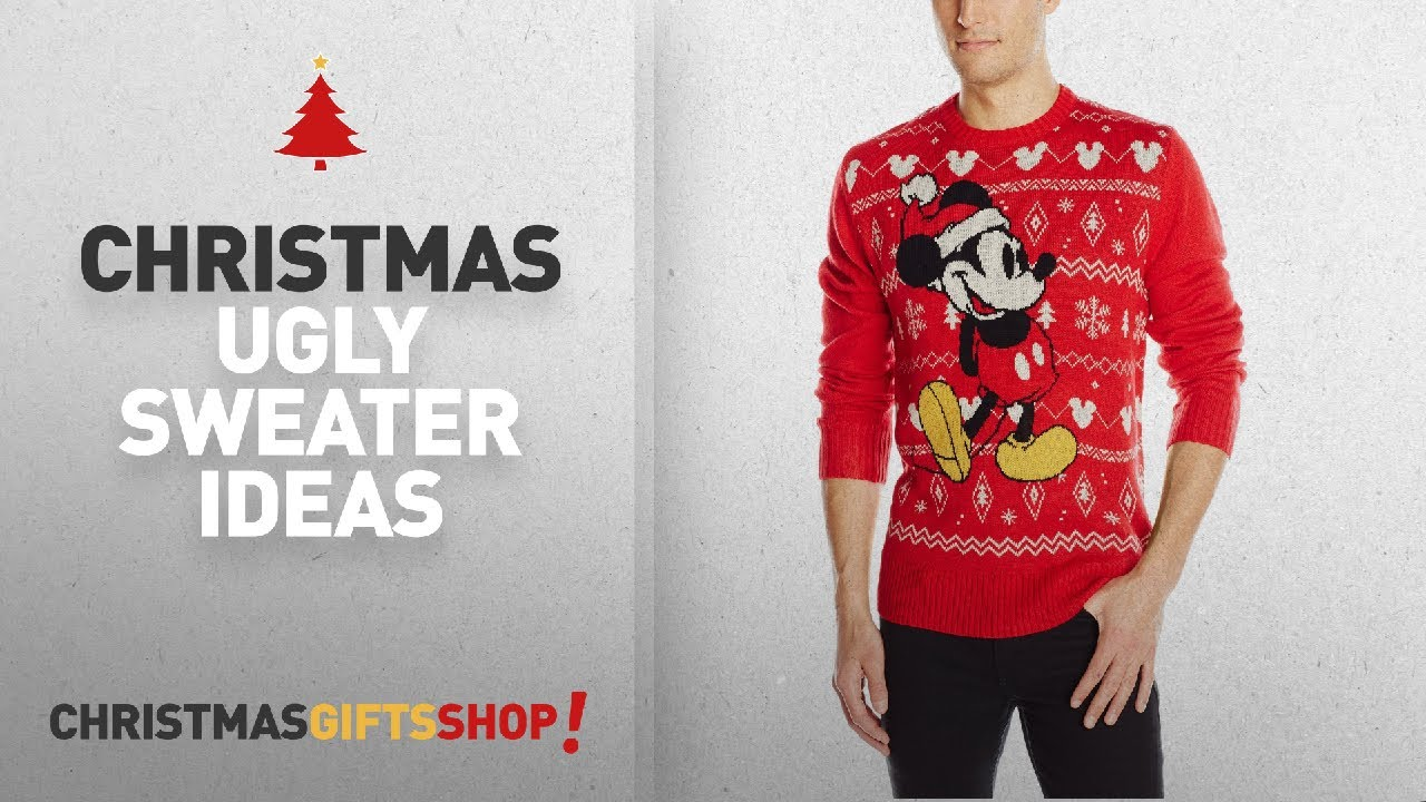 Disney Christmas Ugly Sweater Ideas: Disney Men\'s Mickey Sweater RD ...
