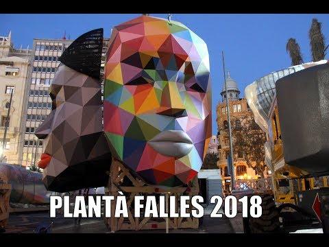 PLANTÀ FALLES CUBA I SUECA LITERATO AZORIN 2018   #Plantà18
