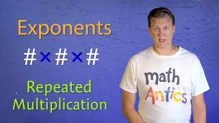 Introduction to exponents, flocab, mąth antics