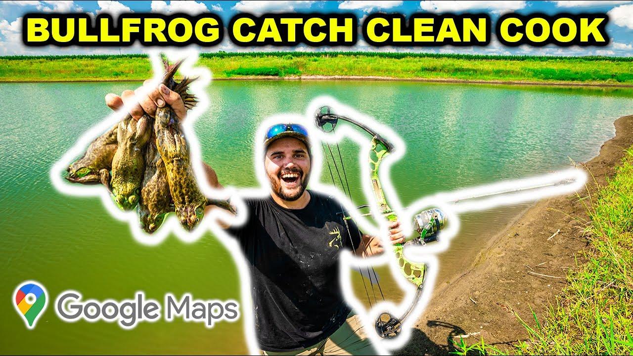 GOOGLE MAPS Bullfrog CATCH CLEAN COOK Challenge!!!!