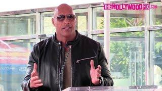 Dwayne Johnson Aka The Rock Speaks At Brett Ratner's Hollywood Walk Of Fame Ceremony 1.19.17