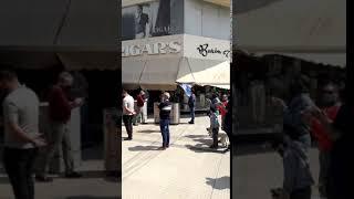Manifestación de comerciantes de la peatonal