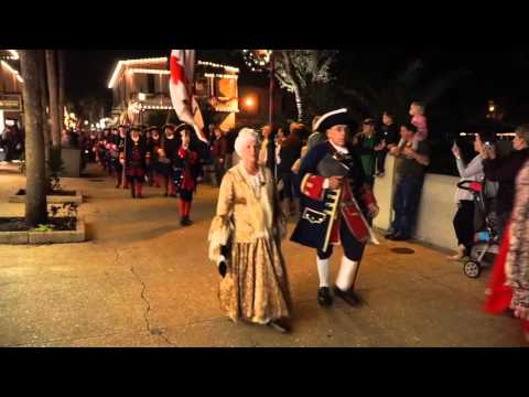 St. Augustine Colonial Night Watch Torchlight Parade 2015