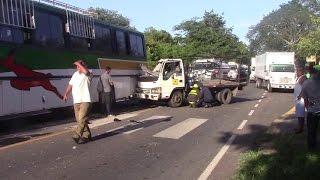 DOS LESIONADOS EN ACCIDENTE DE TRANSITO EN KM 128 CARRETERA A JUIGALPA