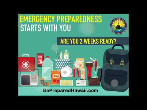 Hawaii Storm Watch - Are You 2 Weeks Ready?