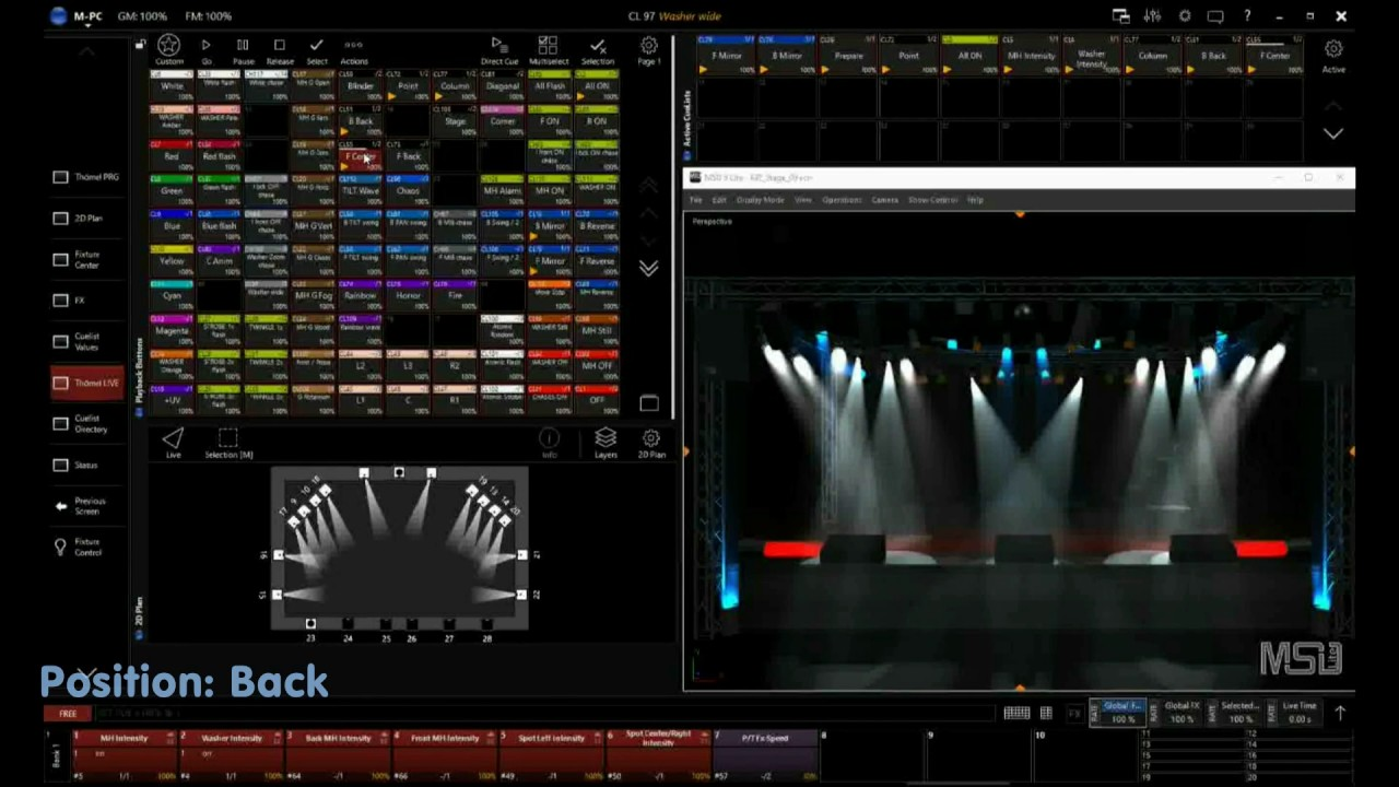 Showreel: Martin M-PC Light-Mixingdesk Live Software program for  MusikZentrum hannover