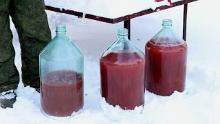 Яблочно-черноплодное вино своими руками ч.3 Перелив из бочки в бутыли