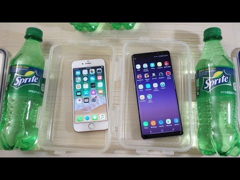 iPhone 8 vs Galaxy Note 8 - Sprite Test! (4K)