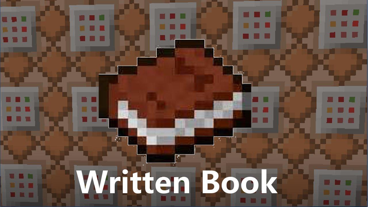 1.8 /give Written Books - Minecraft Tutorial - YouTube