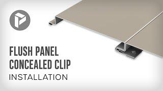 Flush Panel Concealed Clip
