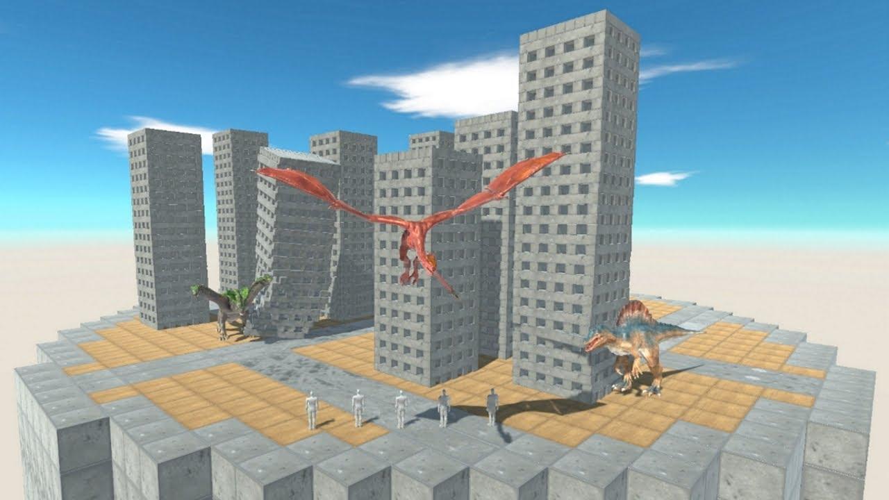Wyvern Monster Team in Destroyable Mini City vs ALL UNITS in Team Animal Revolt Battle Simulator