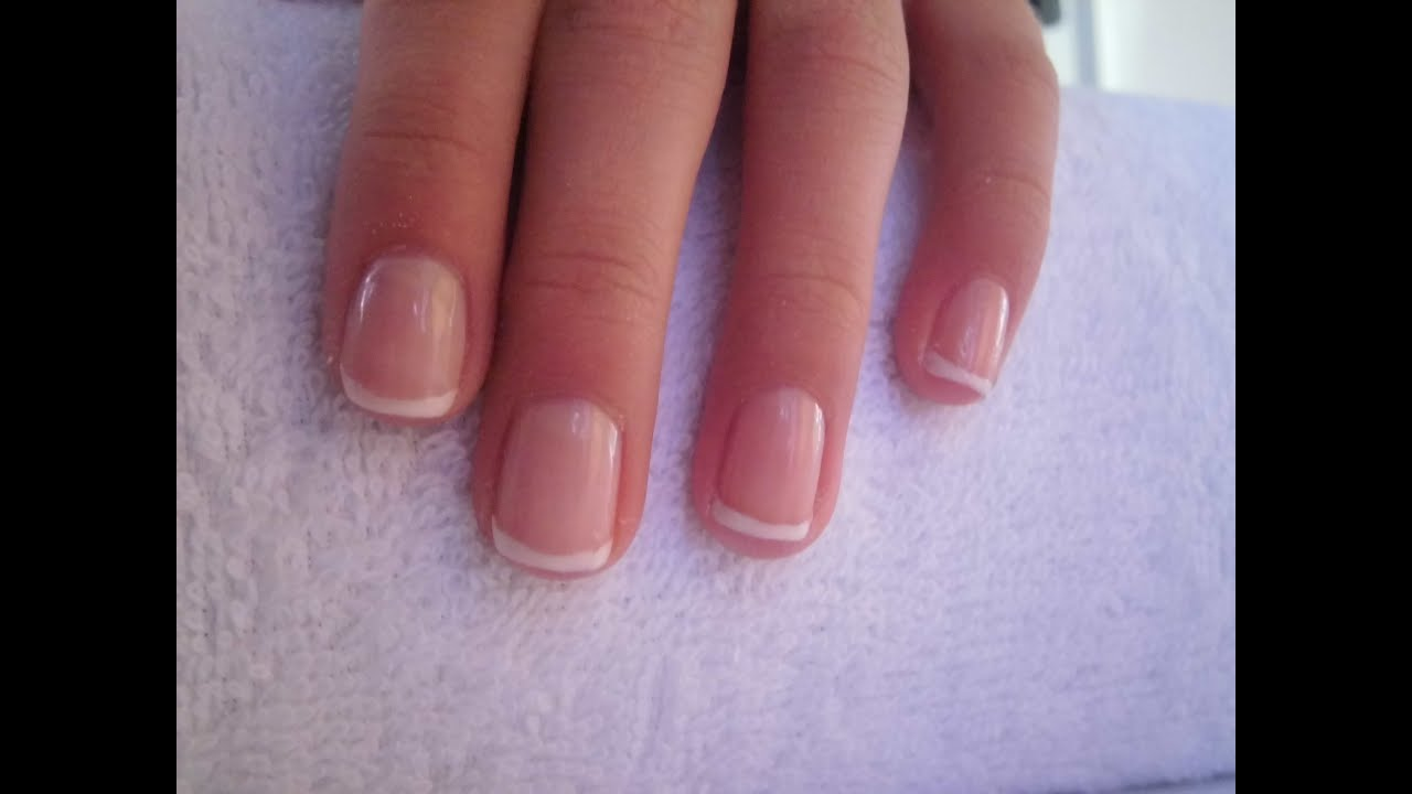 easy way to make French manicure for short nails/ Einfache French ...