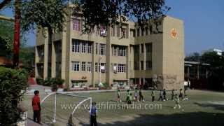 Football practice at the Shri Ram School in Delhi