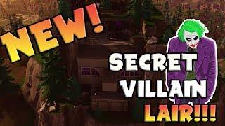 *NEW* SECRET VILLAIN LAIR | FORTNITE HIDDEN LOCATION