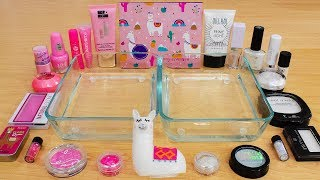 Pink vs White - Mixing Makeup Eyeshadow Into Slime Special Series 233 Satisfying Slime Video