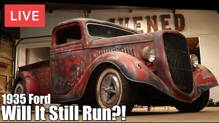 LIVE Forgotten 1935 Ford Truck | Will It Run | Gene Winfield Inspired Build |RESTORED