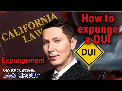 Can I 'expunge' a DUI from my record?