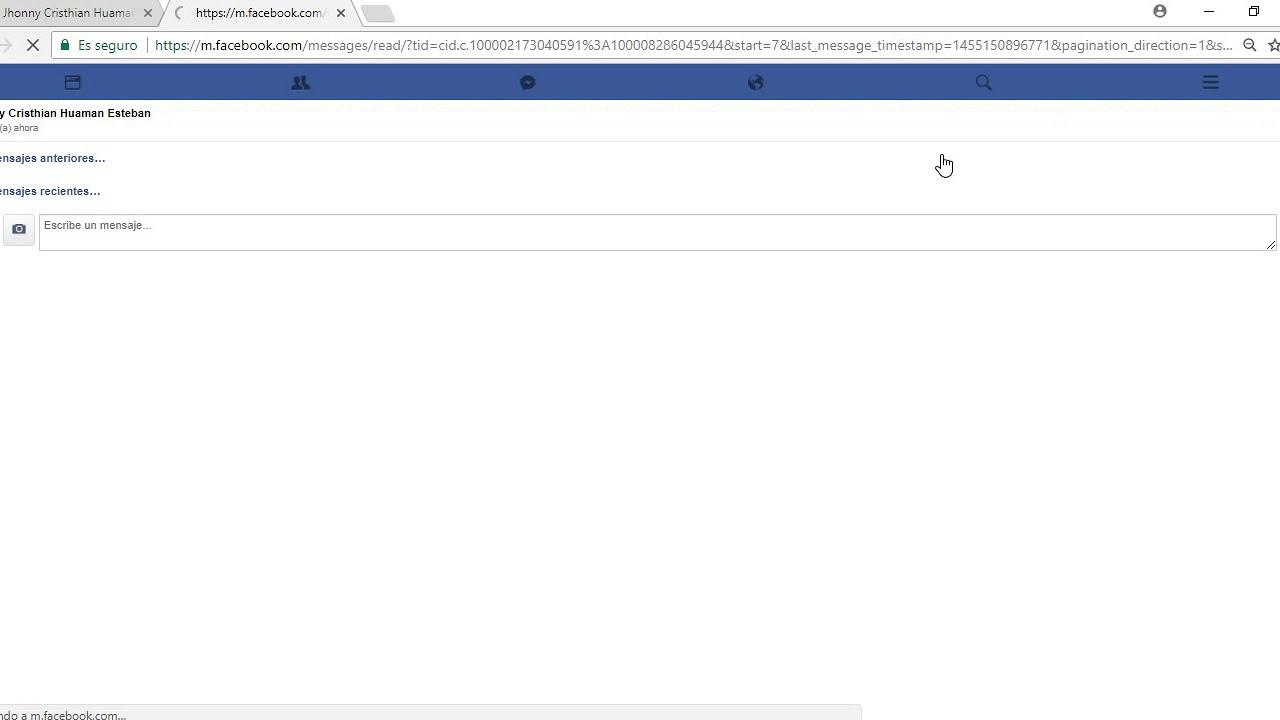 Busca conversaciones en Facebook Messenger