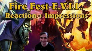FIRE FEST - EVIL Reaction and Impressions! - New Hearthstone Event [Hearthstone]