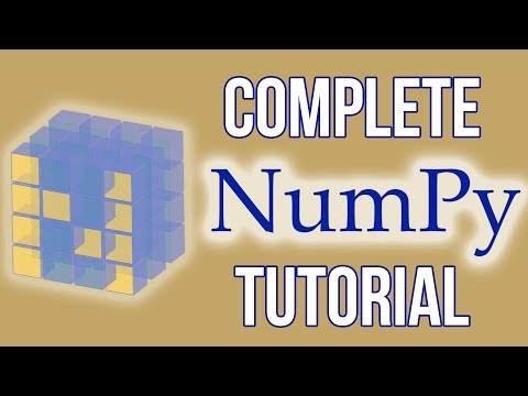 Complete Python NumPy Tutorial (Creating Arrays, Indexing, Math, Statistics, Reshaping) thumbnail