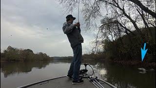 November Cold Front Has Them Biting.  Lake Chickamauga Bass Fishing