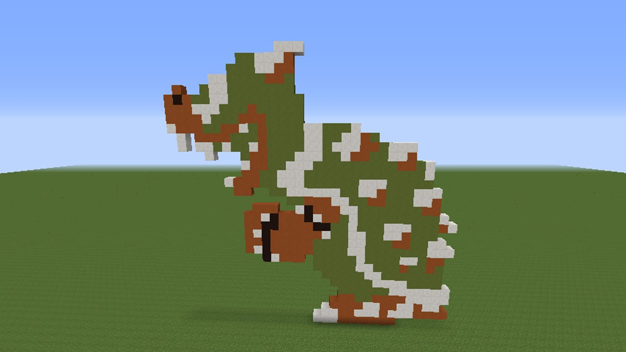Minecraft: Pixel Art   Bowser (Super Mario Bros)   YouTube