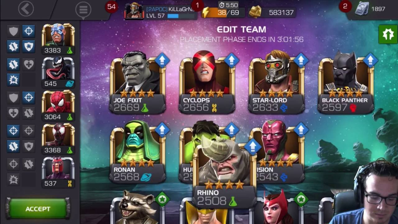 Alliance War Defensive Team Synergies - Marvel Contest of Champions MCOC by  KiLLaGrNs