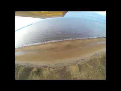 The beach after a storm.  Aerial video from an rc model