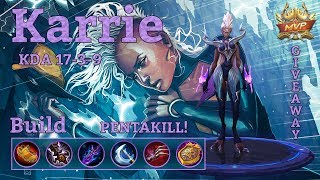 Mobile Legends: Karrie MVP, Penta Kill! :o Skin Giveaway!