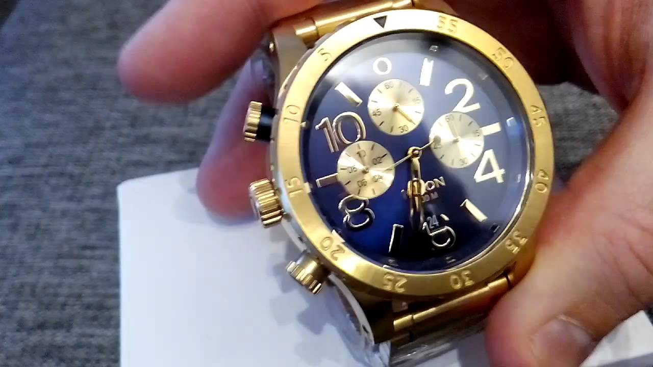 nixon 48 20 chrono goldblue sunray youtube