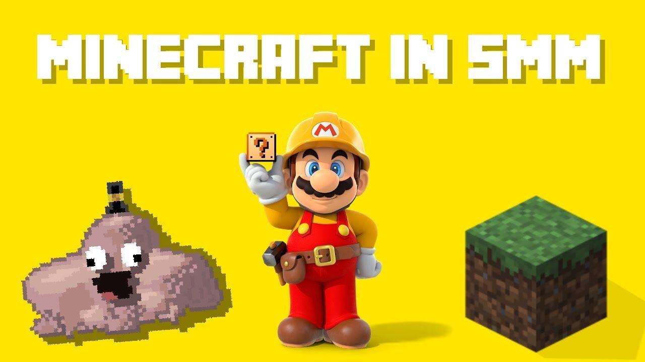 Minecraft in Super Mario Maker!?  SMM Texture Hack