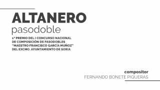 Altanero, Pasodoble | Fernando Bonete Piqueras