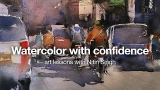 How to paint watercolor with confidence, watercolor art lessons with Nitin Singh