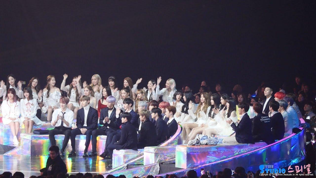 181201 블랙핑크 BLACKPINK 댄스상 수상 워너원 WannaOne 방탄소년단 BTS 모모랜드 MOMOLAND 리액션 Reaction 직캠 by Spinel
