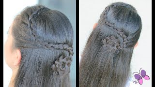 Pull Back Flower | Elegant Hairstyles | Braided Hairstyles | ChikasChicEng