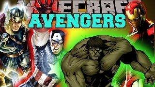 Minecraft: THE AVENGERS (THE HULK, THOR, IRON MAN, & CAPTAIN AMERICA!) Mod Showcase