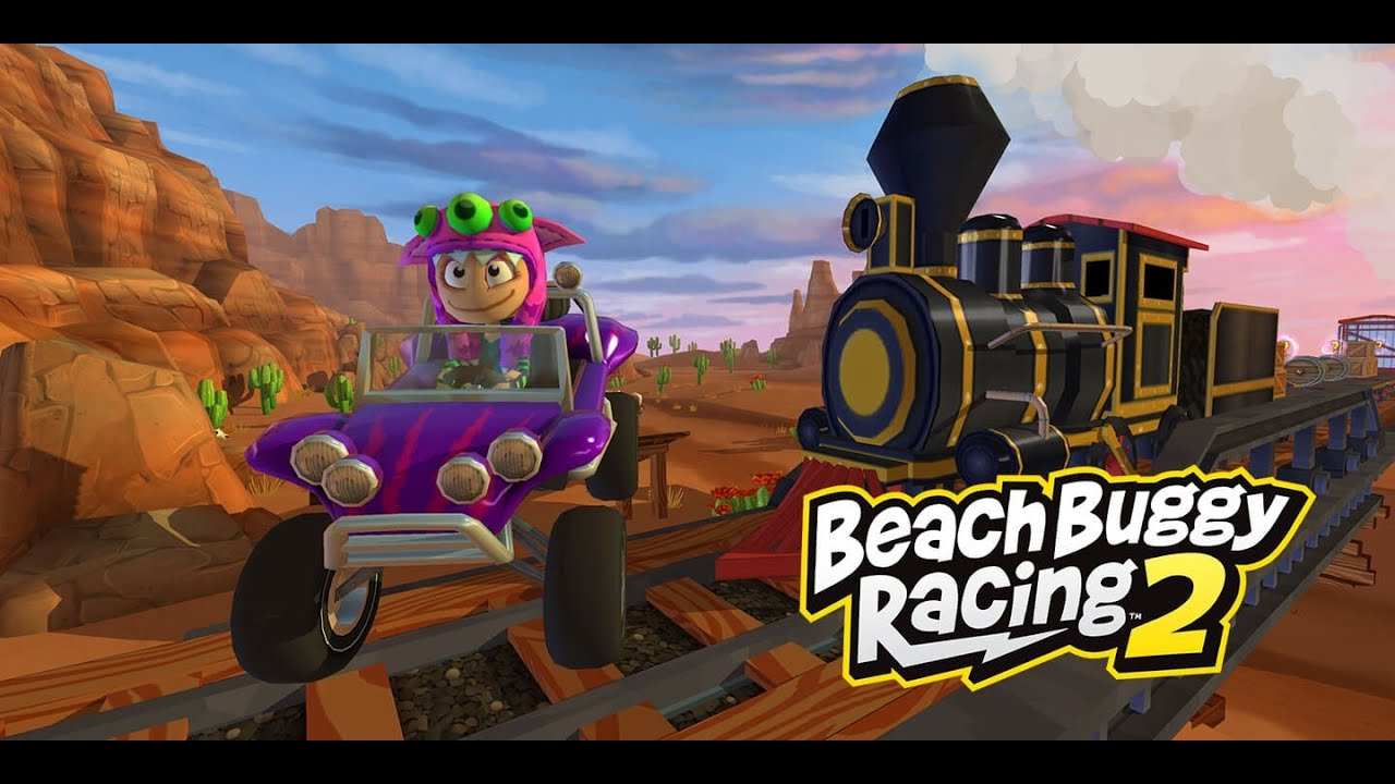 Crazy Car racing Mario-kart style on Beach Buggy Racing 2 game app