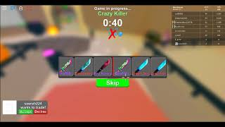 Open Box to get legendary knife ( Crazy Knives ) Roblox