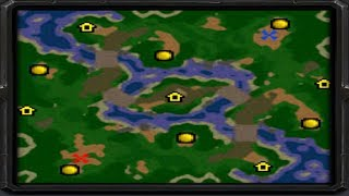 Warcraft 3 - Symmetrical Two Rivers (1v1 #203)