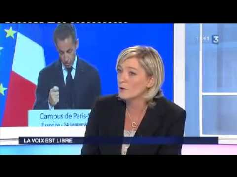 Marine Le Pen évoque le club le Siècle