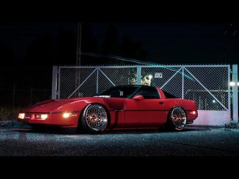 Download Static Corvette | Retrowave Run | 4K |