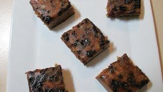 Microwave Dark Fruit Cake (eggless)